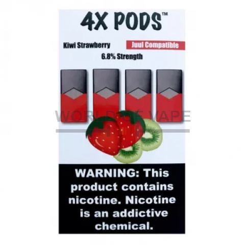 Комплект 4X PODS Kiwi  Strawberry (6.8%)