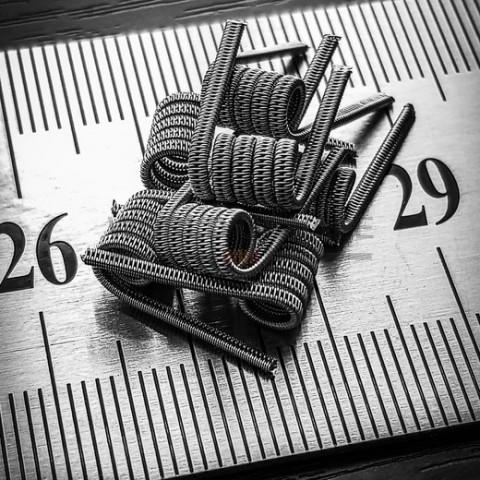 Спираль ручной работы Staggered fused clapton coil
